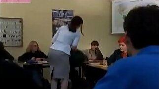 Modest mature teacher fucks with student boy Sex scene from movie