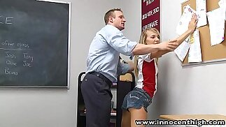 InnocentHigh Teacher fucks smalltits amateur teen