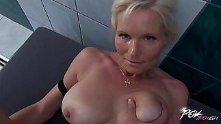 Povbitch Busty milf cleaning lady was bad punished hard with cock