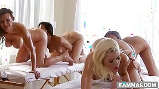 Mother Daughter Spa Day Anikka Albrite, Lizz Taylor, Lyla Storm and Tanya Tate