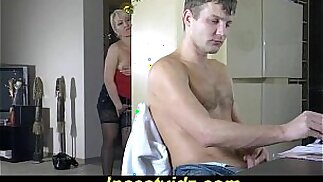 Beauty Russian mother fucking with her son