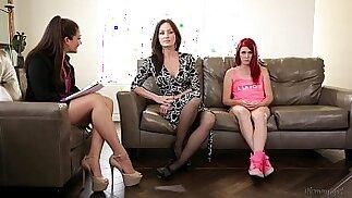 The Family Therapist Elle Alexandra, Allie Haze, Angela Sommers