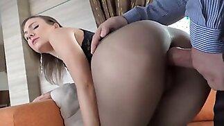 pantyhose sex video